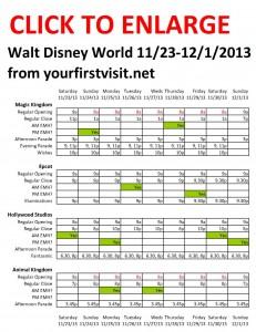 Disney World 11-23 to 12-1-2013 from yourfirstvisit.net