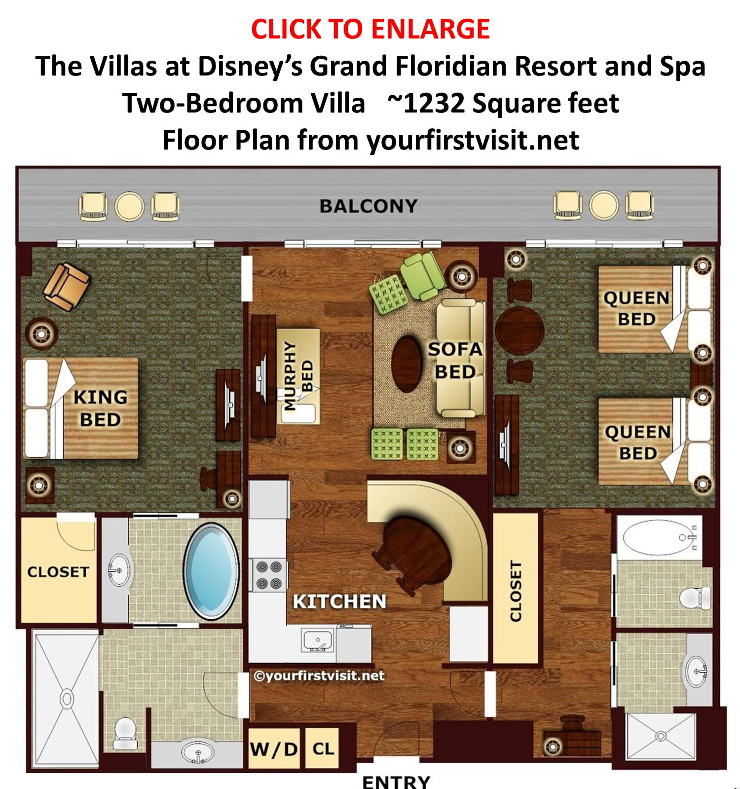 grand floridian 2 bedroom villa. Floor Plan Two Bedroom Villa at Disney s Grand Floridian from  yourfirstvisit net Quick Update on the Meet Up 2nd FastPass Test and More