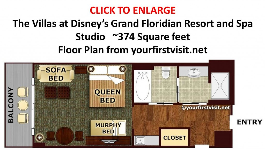 Floor Plan Studio at Disney's Grand Floridian from yourfirstvisit.net