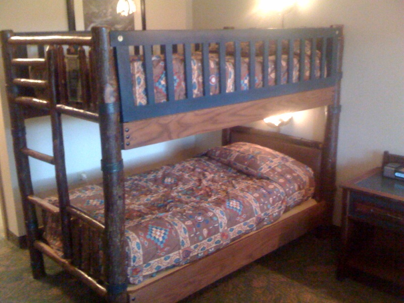 Fancy Bunk Beds at Disney us Wilderness Lodge from yourfirstvisit net
