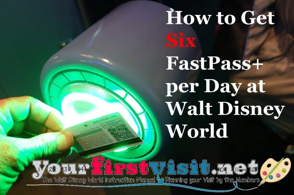 How to Get 6 FastPass+ Per Day at Disney World from yourfirstvisit.net