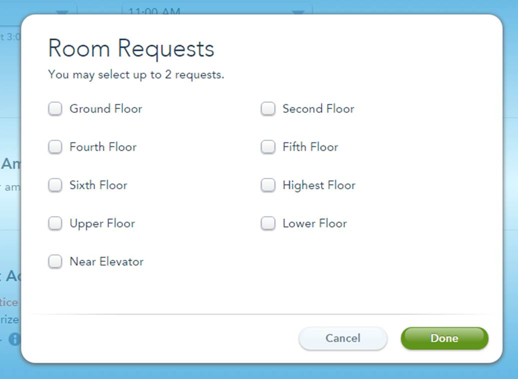 Wilderness Lodge Room Request Form