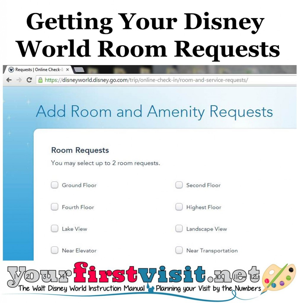 Disney Hotel Room Requests