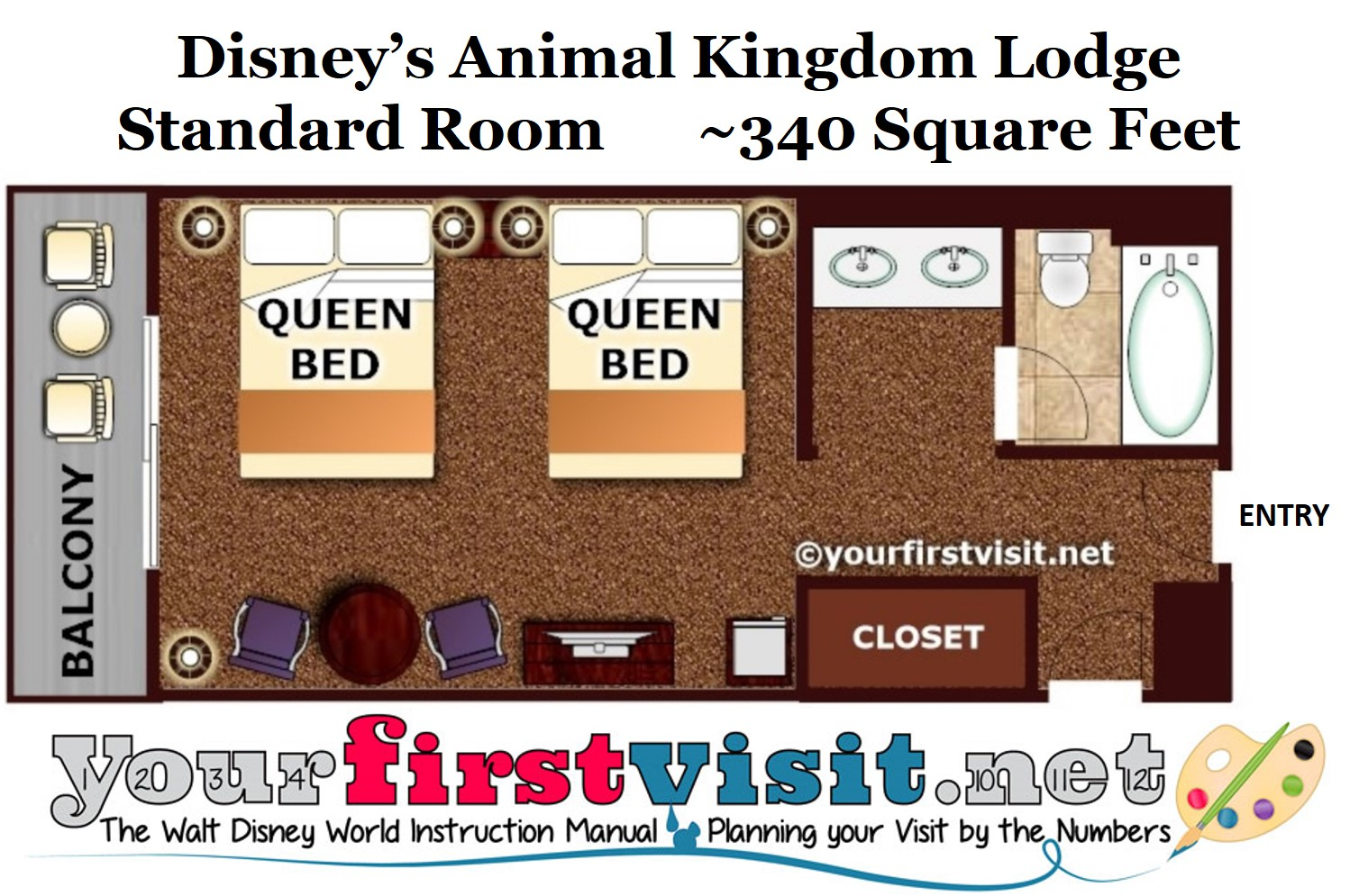 Floor Plan Disney's Animal Kingdom Lodge Standard Room from yourfirstvisit.net