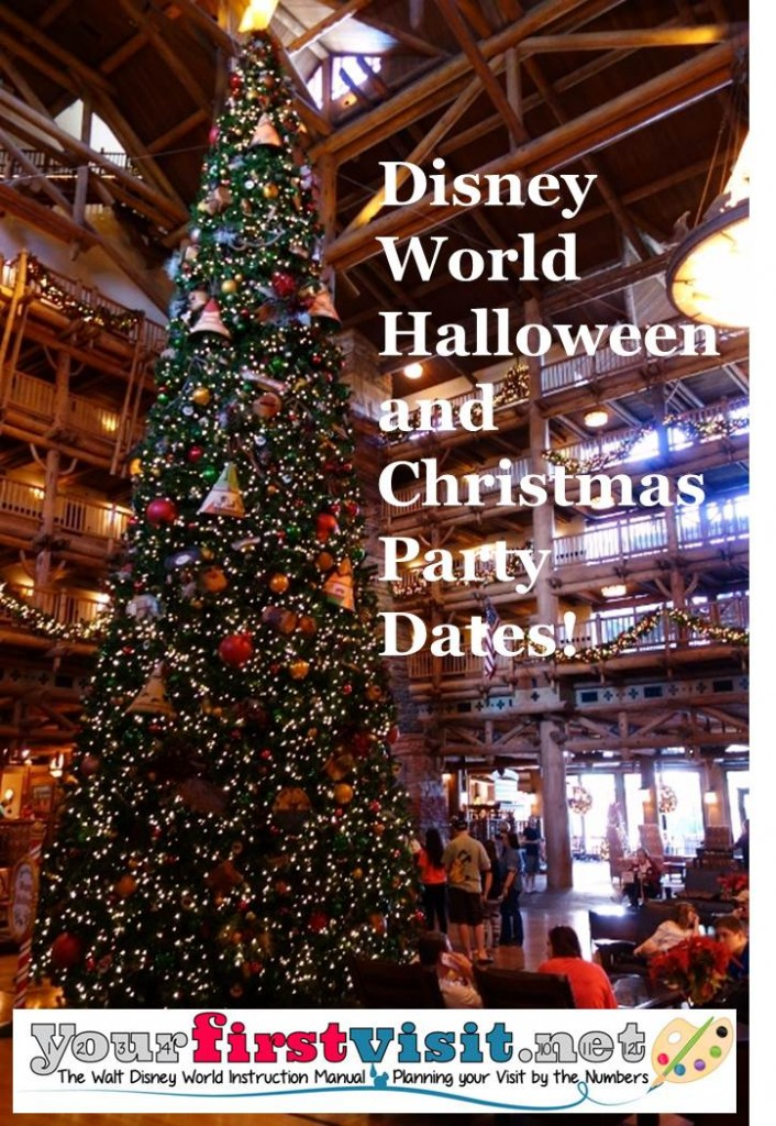 Disney World Halloween and Christmas Party Dates from yourfirstvisit.net