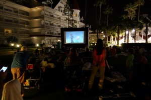 Movies on the Beach at Disney's Grand Floridian Resort from yourfirstvisit.net