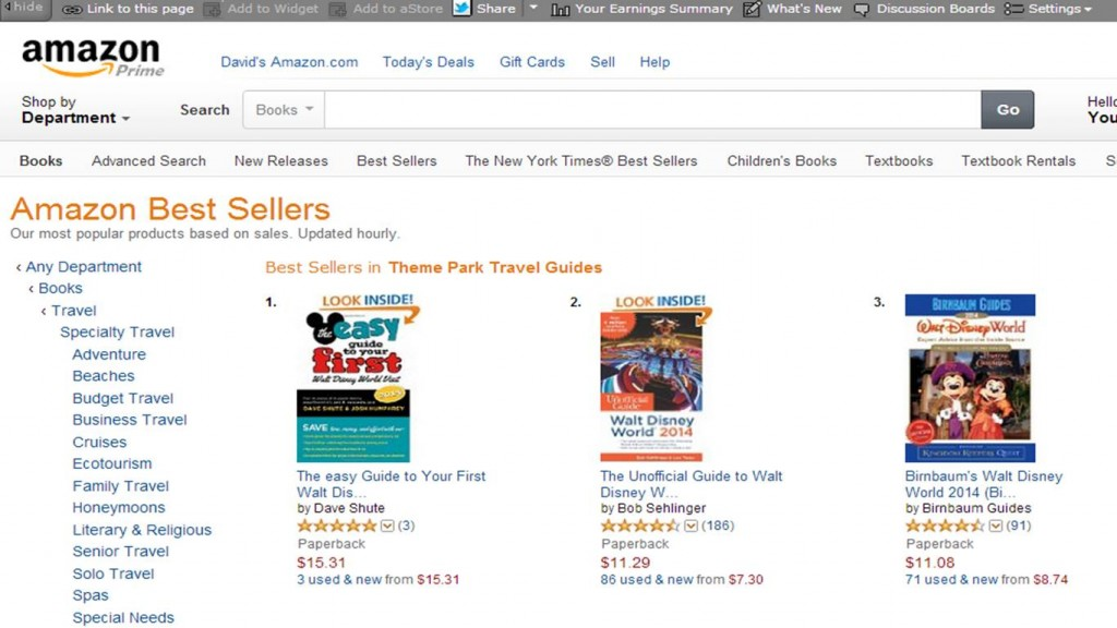 Our guidebbook ranks #1 on Amazon
