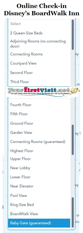 Disney's BoardWalk Inn Online Check-in from yourfirstvisit.net