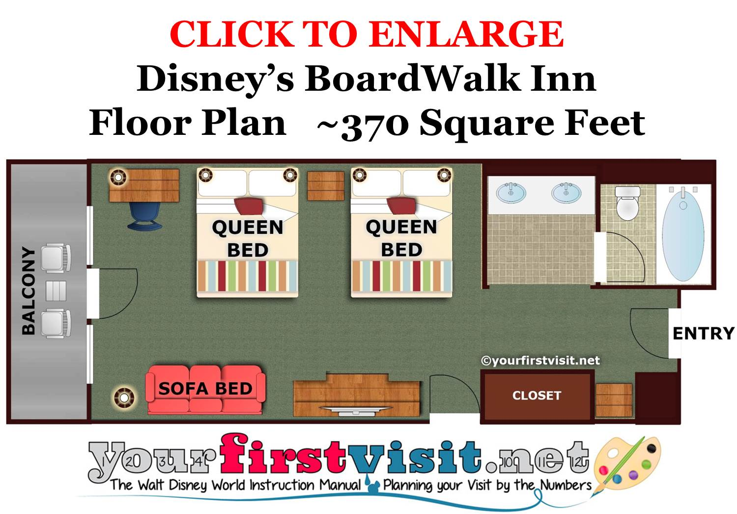 Floor Plan Disney's BoardWalk Inn from yourfirstvsisit.net