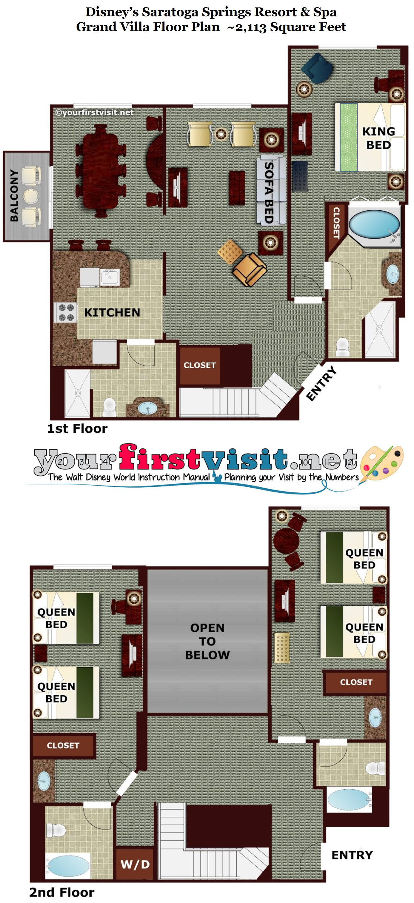 Saratoga Springs Grand Villa Floor Plan Carpet Review