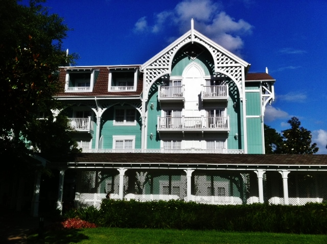 Board and Batten and Clapboard Siding at Disney's Beach Club Villas from yourfirstvisit.net
