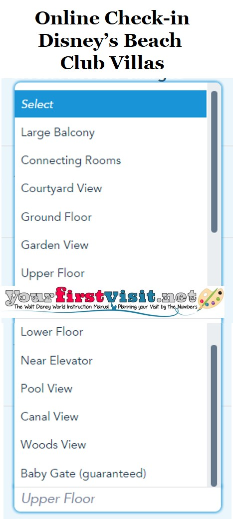 Disney's Beach Club Villas Online Check-in from yourfirstvisit.net