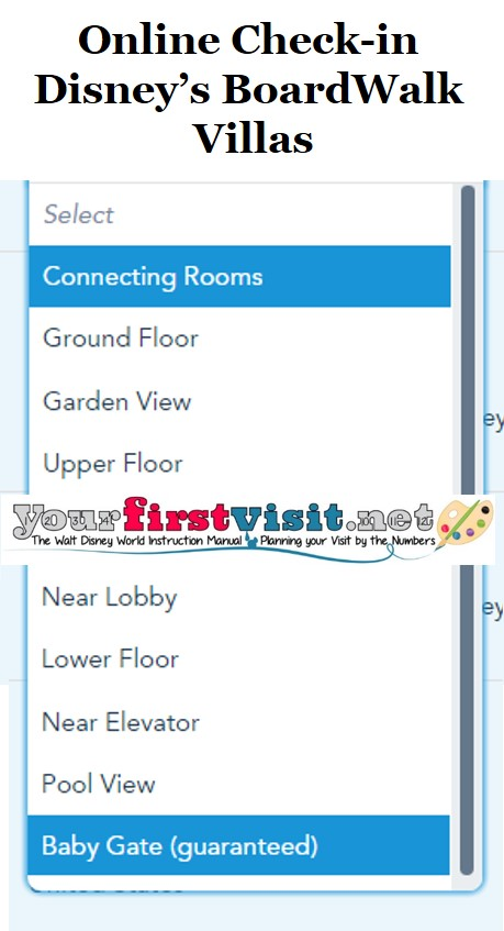 Disney's BoardWalk Villas Online Check-in from yourfirstvisit.net