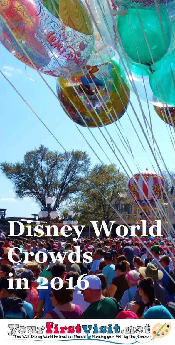 Disney World Crowds in 2016 from yourfirstvisit.net