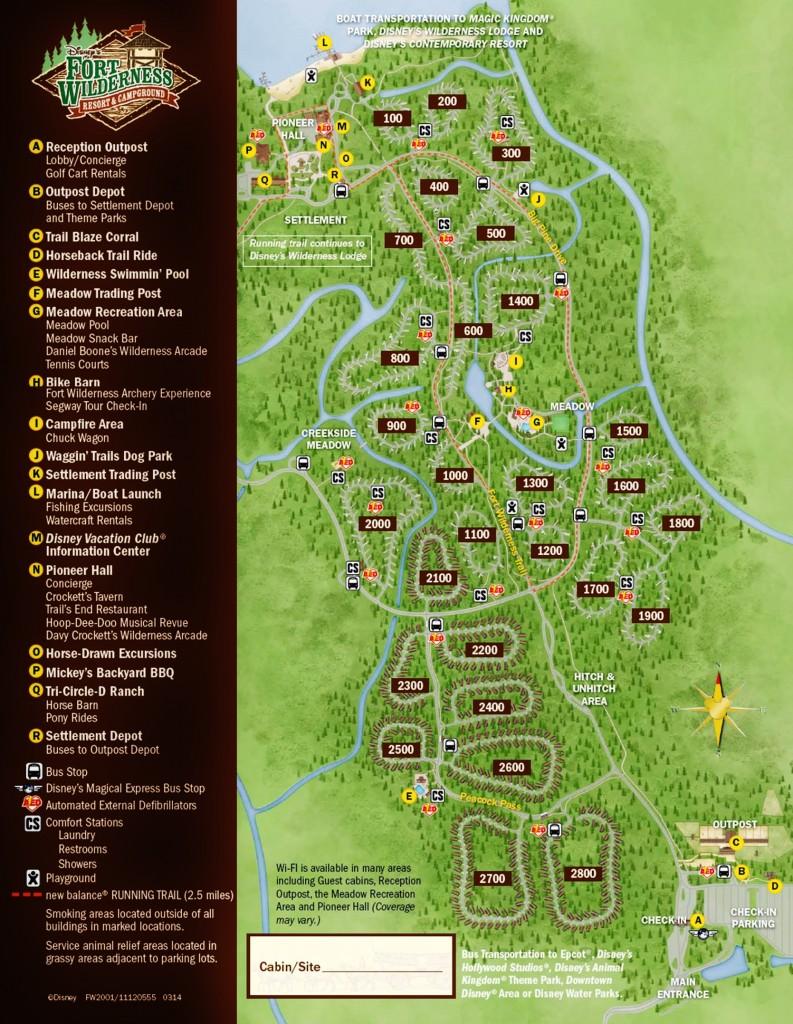 Map Disney's Fort Wilderness Resort