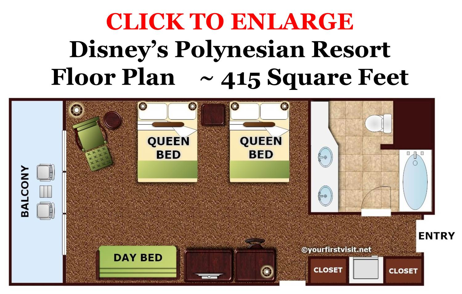 Floor Plan Disneys Polynesian Resort from yourfirstvisit.net