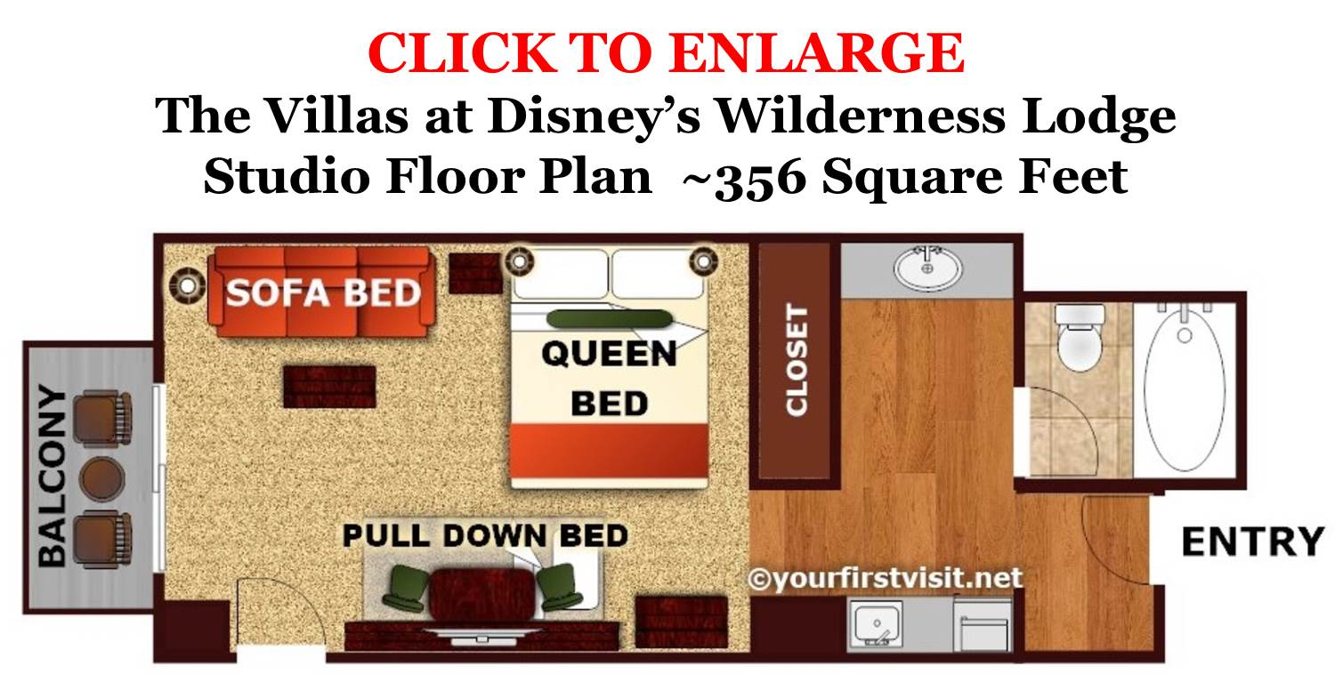 Floor Plan Studio The Villas at Disney's Wilderness Lodge from yourfirstvisit.net