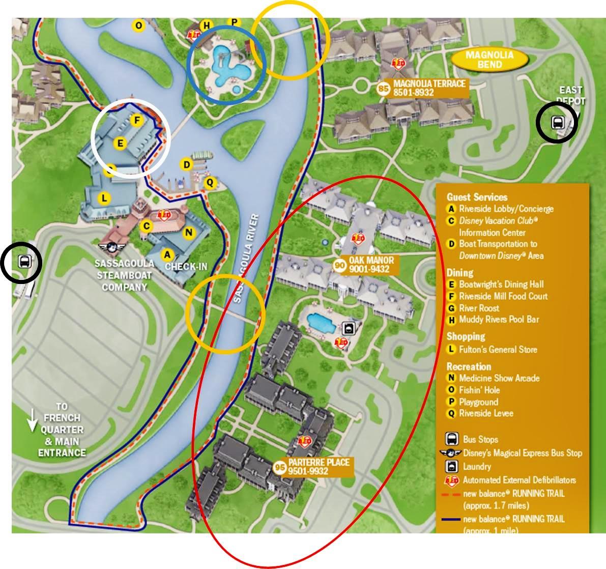 Map Of Port Orleans Riverside | Rtlbreakfastclub Disney Port Orleans Riverside Map on