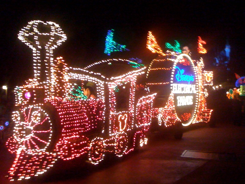 The Main Street Electrical Parade at the Magic Kingdom from yourfirstvisit.net