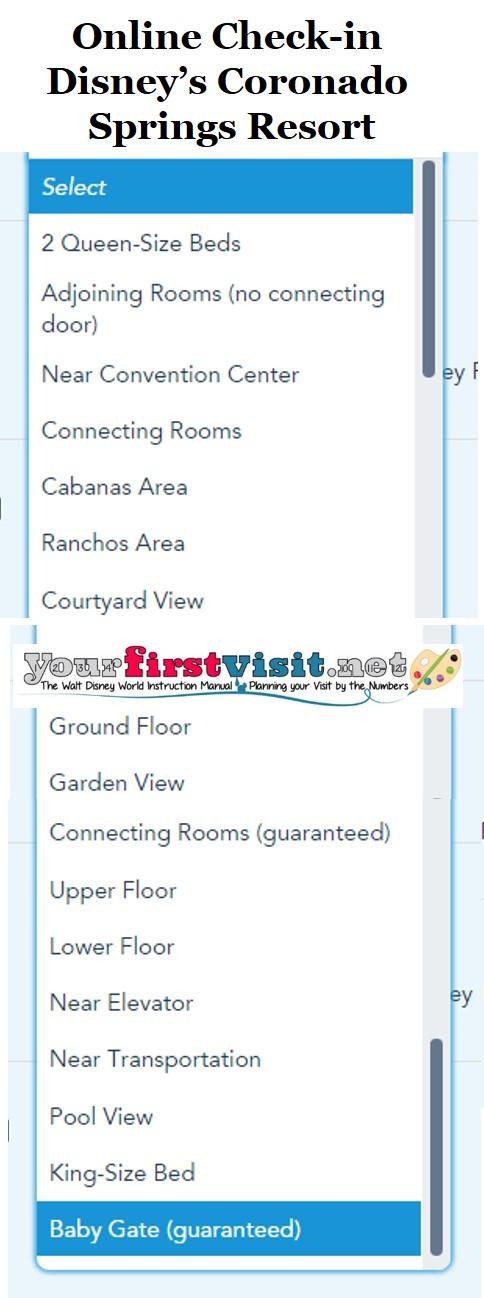 Disney's Coronado Springs Resort Online Check-in from yourfirstvisit.net