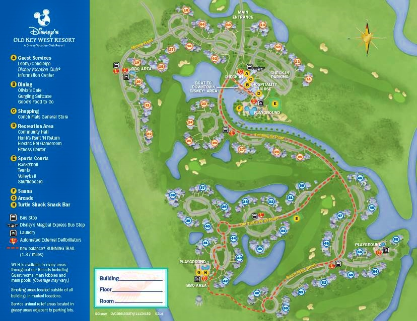 Map Disney's Old Key West Resort