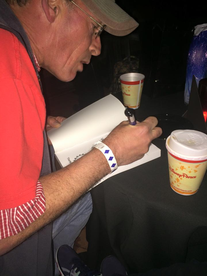 Signing The easy Guide at Epcot