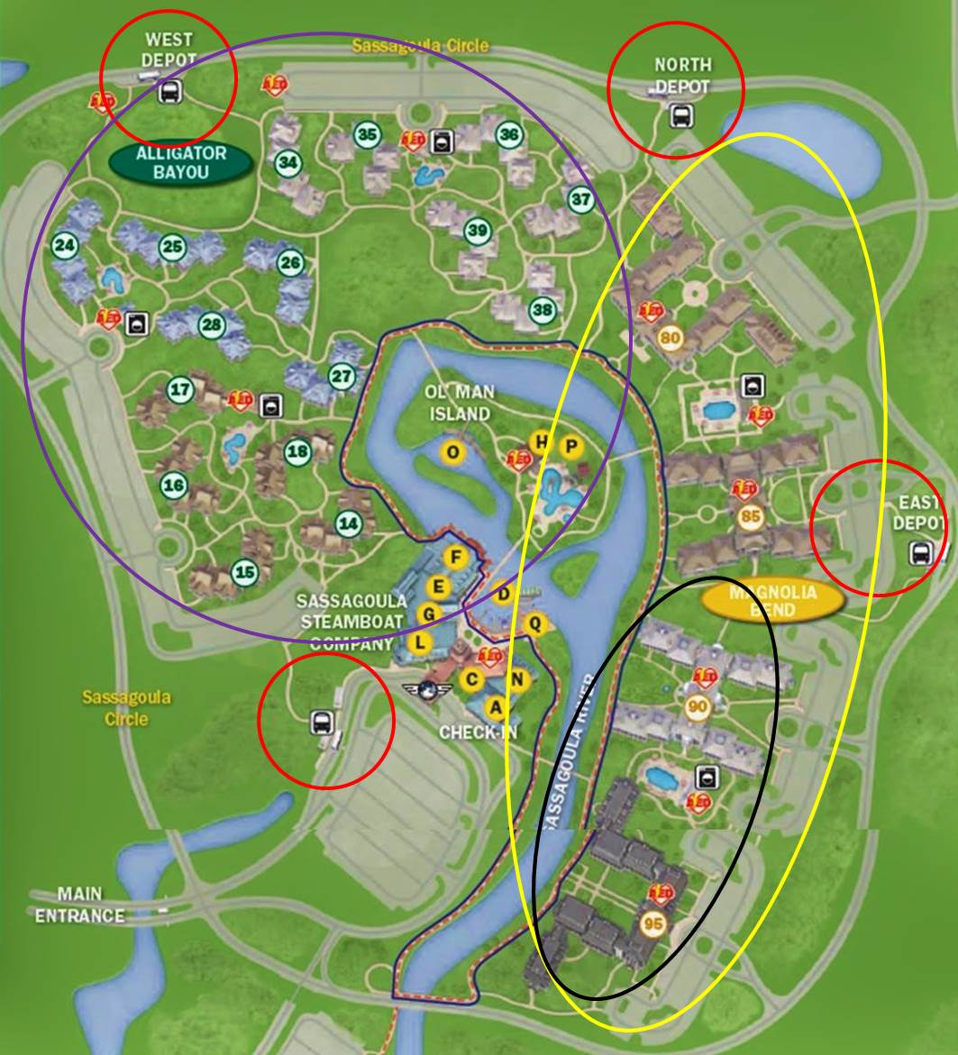 Annotated Map Disney's Port Orleans Riverside Resort