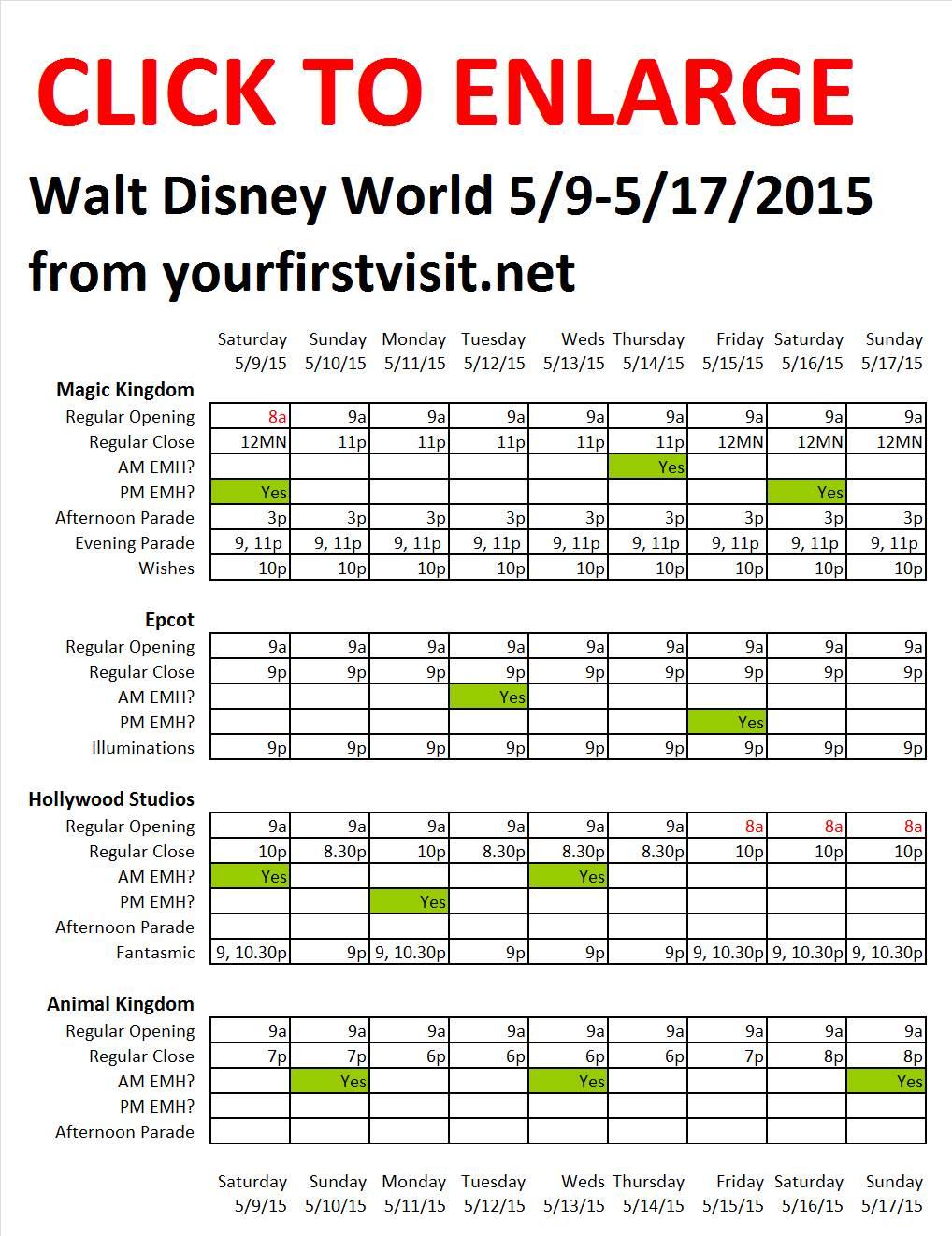Disney World 5-9 to 5-17-2015 from yourfirstvisit.net