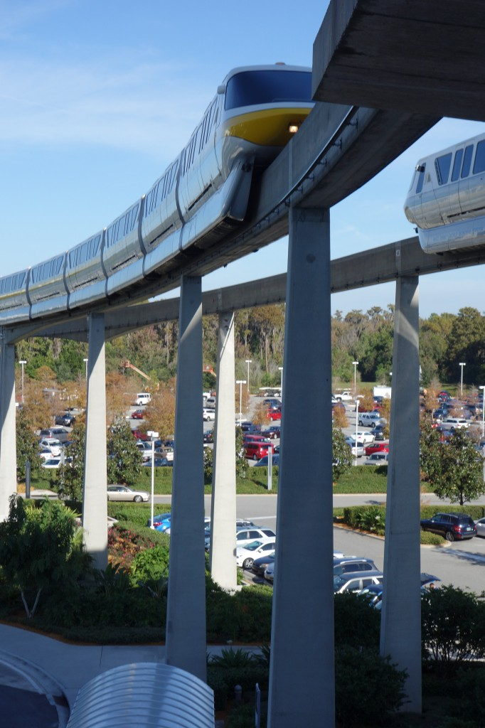Monorails at Disney's Contemporay Resort from yourfirstvisit.net