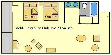 Disney's Yacht Club Deluxe Room