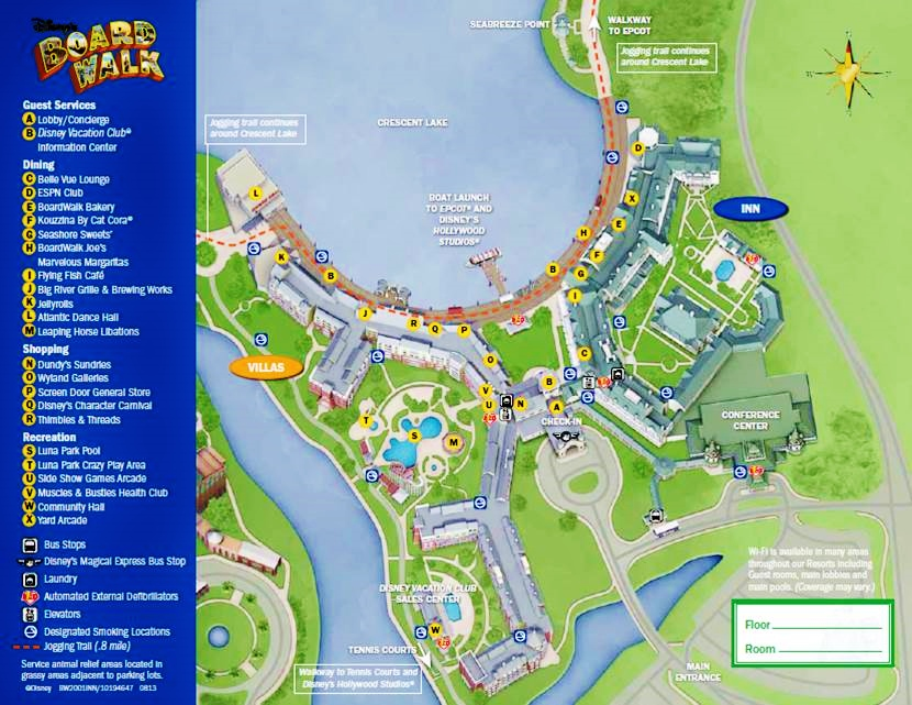 Map Disney's BoardWalk Inn and Villas