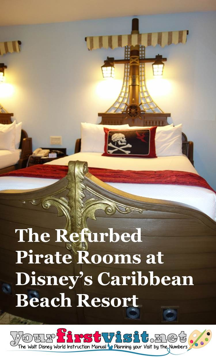 The Refurbed Pirate Rooms At Disney S Caribbean Beach Resort From Yourfirstvisit