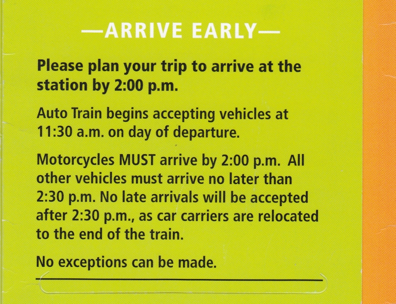 Auto Train Arrival Instructions from yourfirstvisit.net