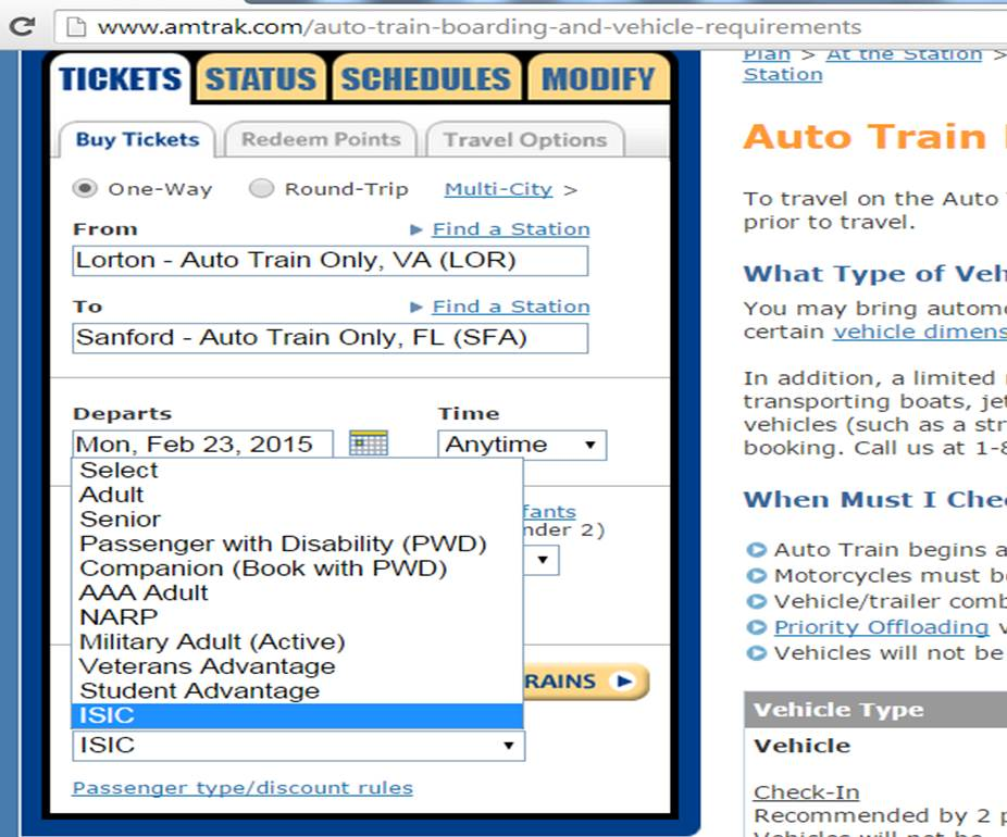 Auto Train Discounts from yourfirtsvisit.net