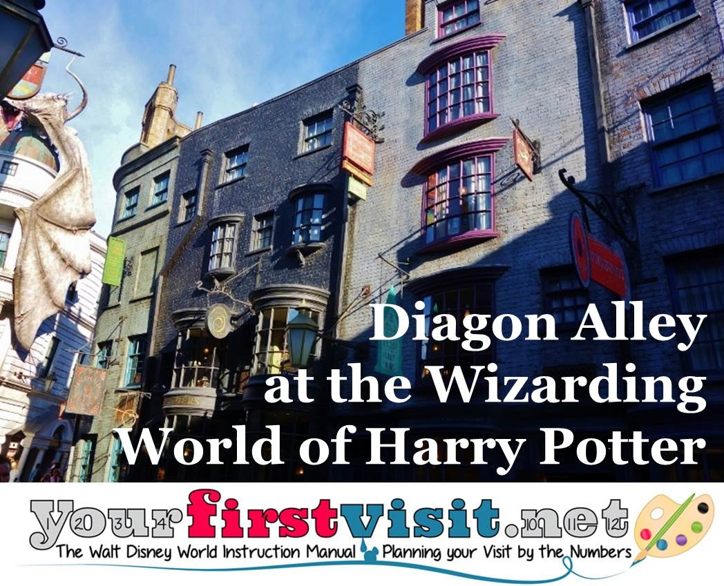 Diagon Alley at The Wizarding World of Harry Potter from yourfirtsvisit.net