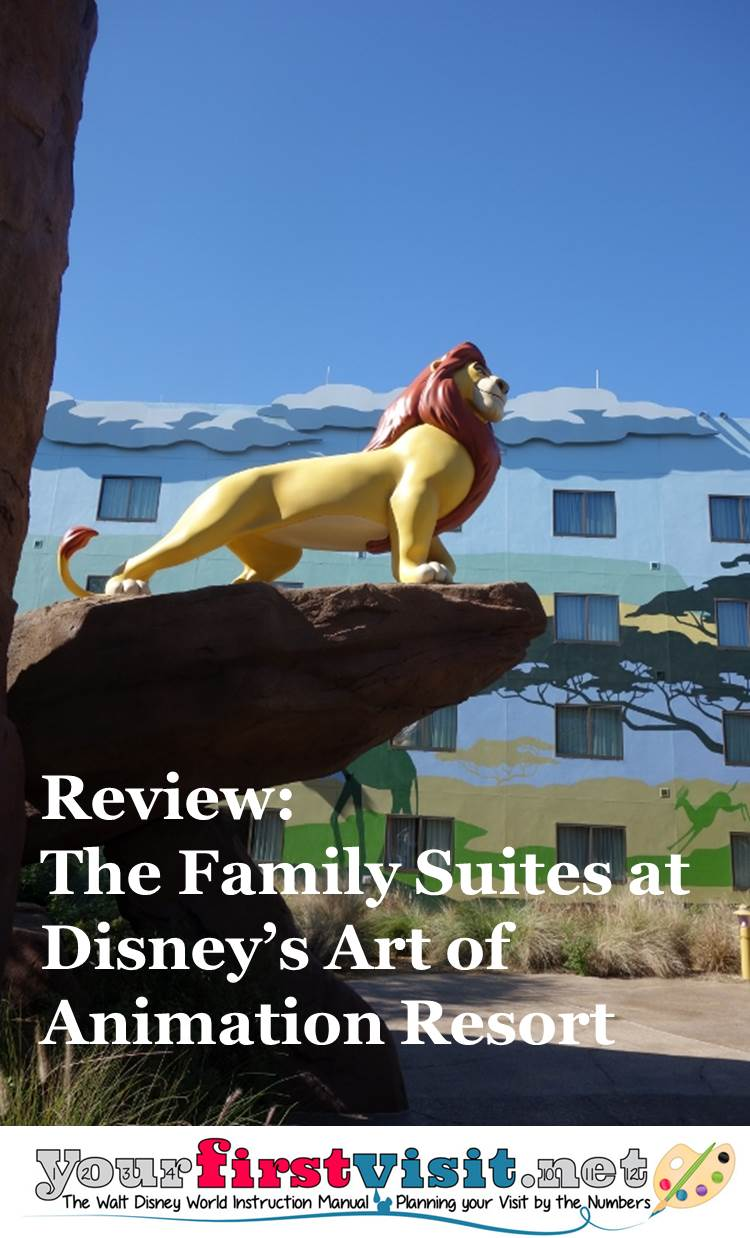 Review - The Family Suites at Disney's Art of Animation Resort from yourfirstvisit.net