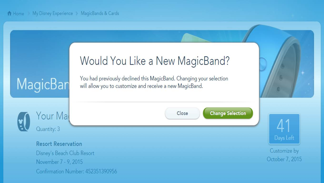 Declining a MagicBand Step 4 from yourfirstvisit.net