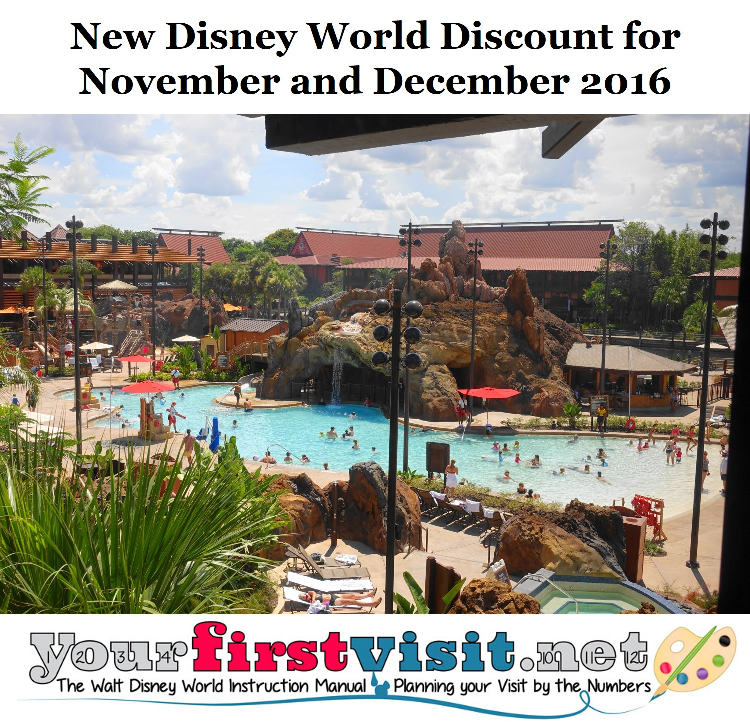 New Disney World Discount for Many Dates in November and December 2016 from yourfirstvisit.net