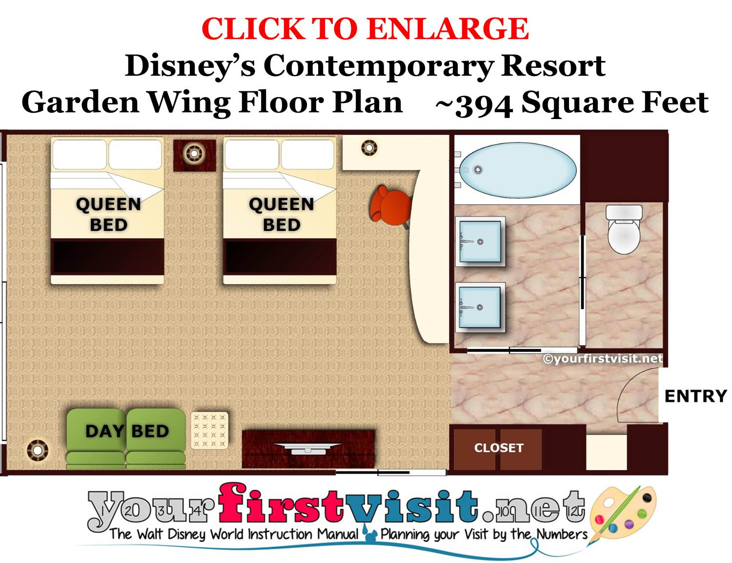 Garden Wing Floor Plan Disney's Contemporary Resort from yourfirstvisit.net