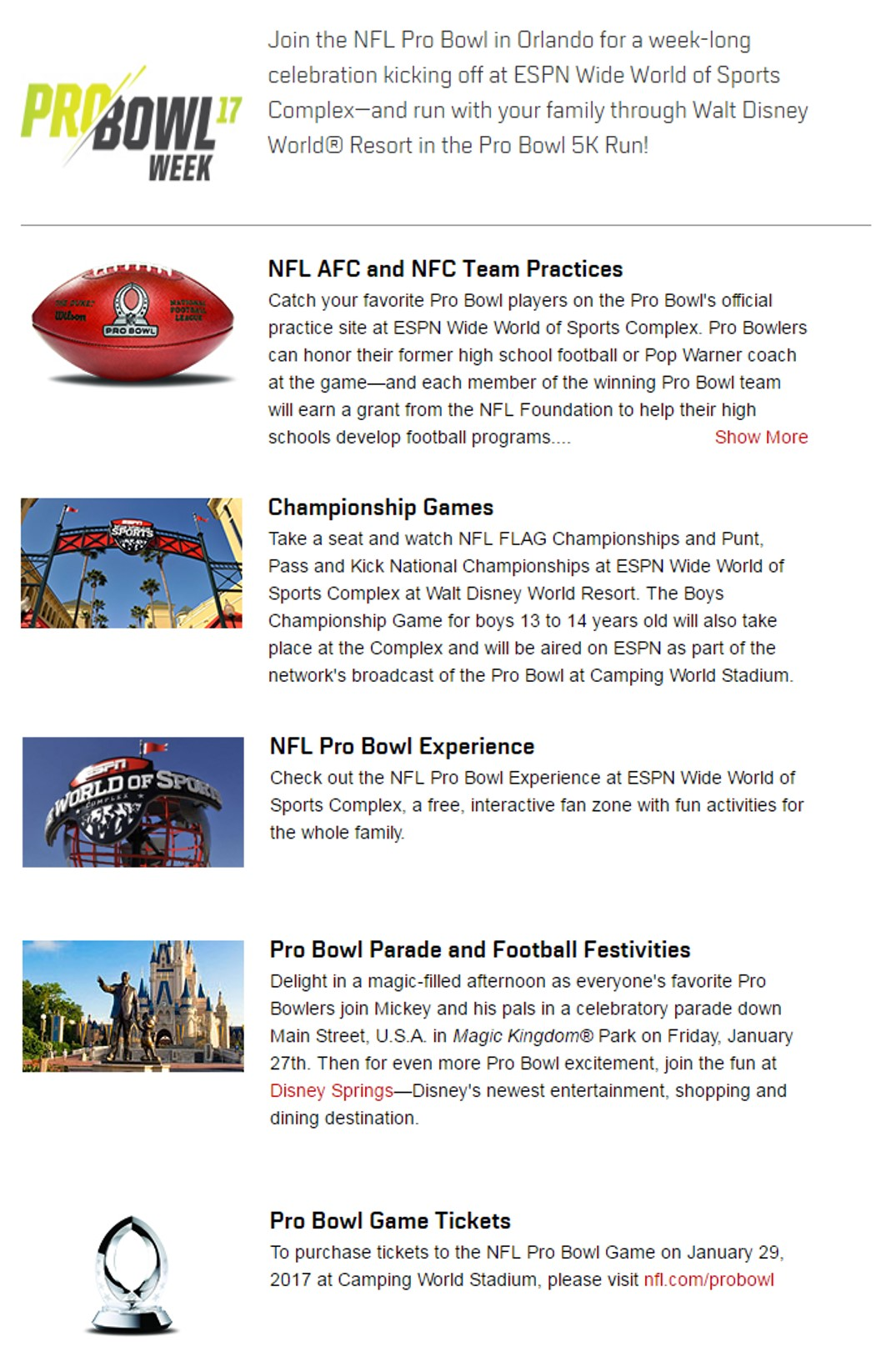 Pro Bowl at Disney World from yourfirstvisit.net