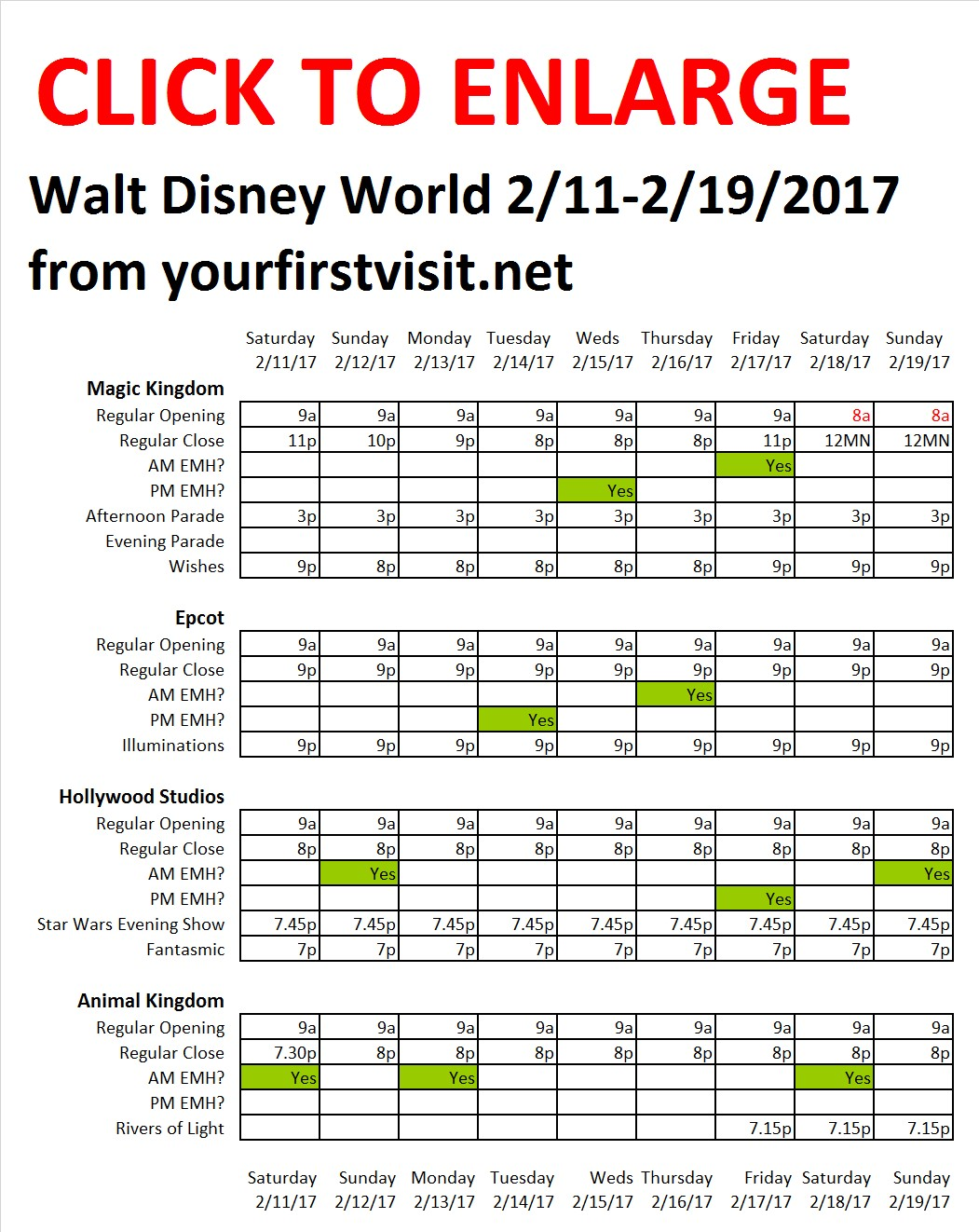 Disney World 2-11 to 2-19-2017 from yourfirstvisit.net