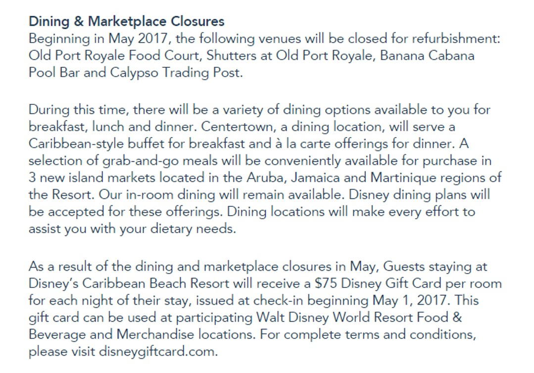 Closure For Refurb Of Food Areas Is Pretty Routine At Disney World Port Orleans French Quarter Just Went Through This And There Was Not Much Panic