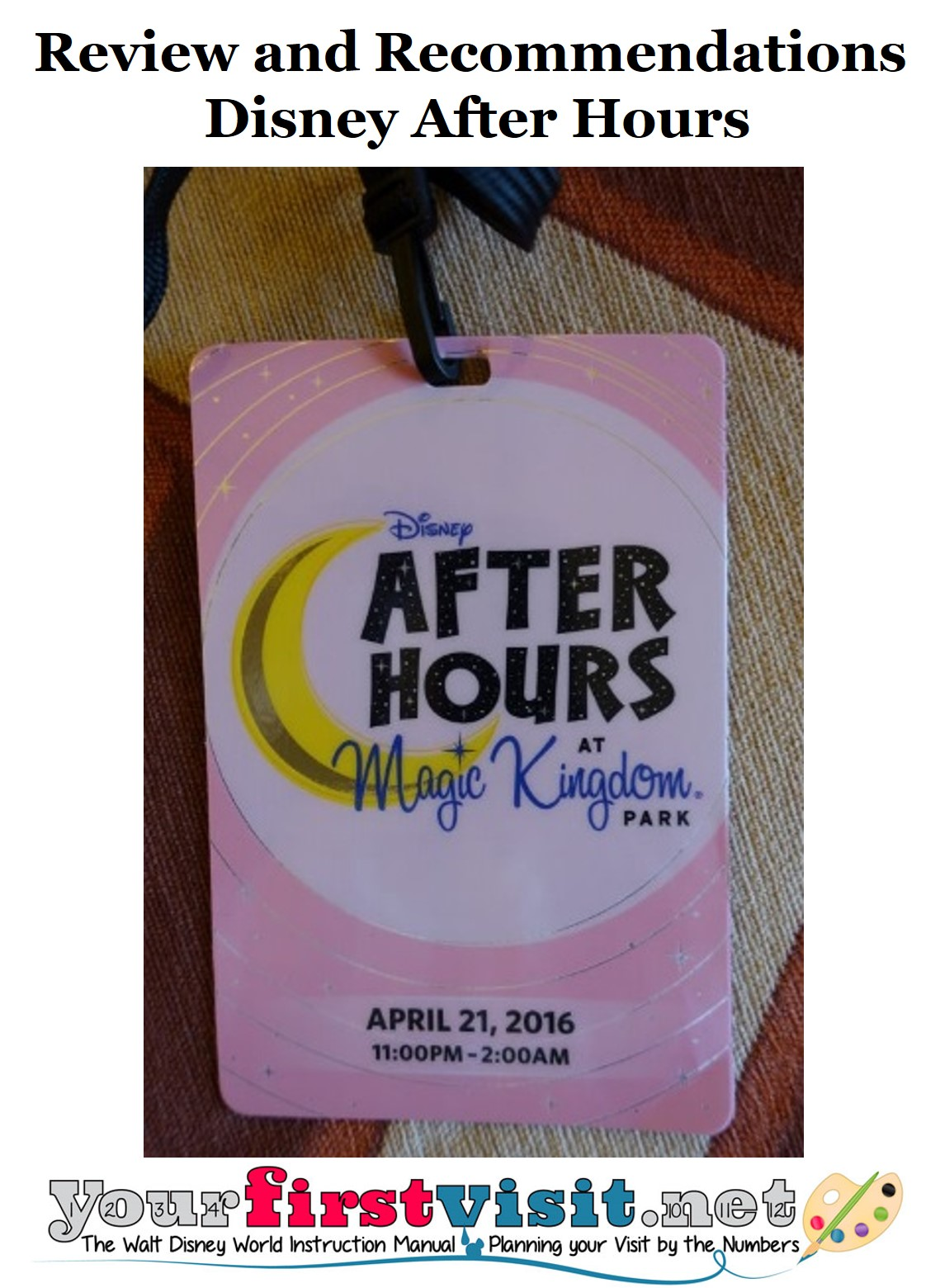 Disney After Hours Report and Review from yourfirstvisit.net