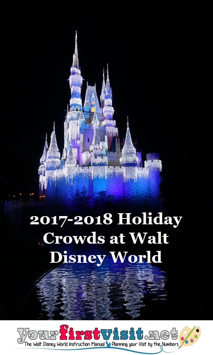 disney world sees its highest crowds and prices of the year in the later third of december and the beginning of january in the weeks around christmas and