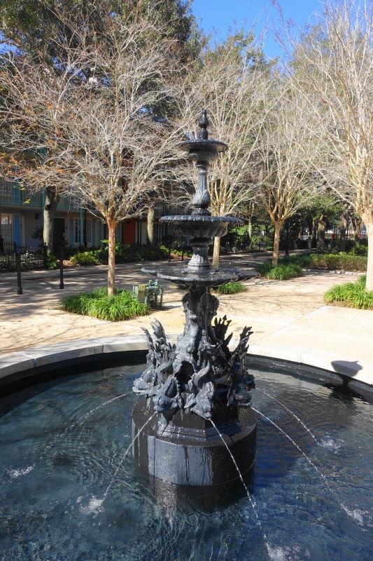 Fountain Disney's Port Orleans French Quarter Resort from yourfirstvisit.net