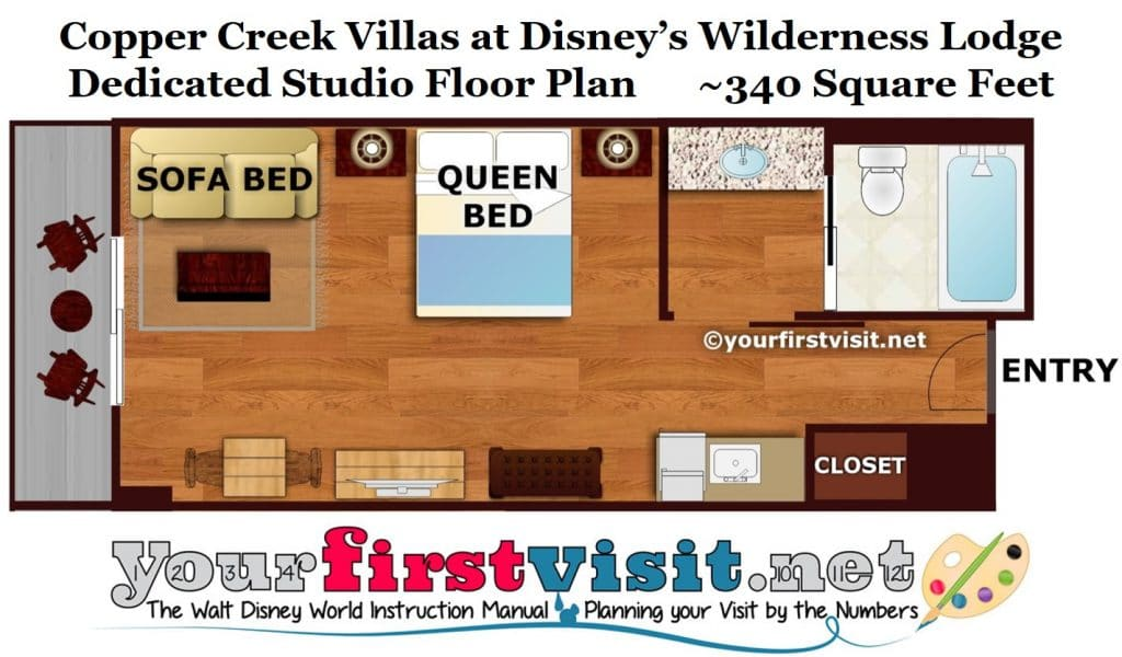 Theming And Accommodations At Copper Creek Villas At Disneys Wilderness Lodge on Wilderness At Disney 2 Bedroom Villas Floor Plan
