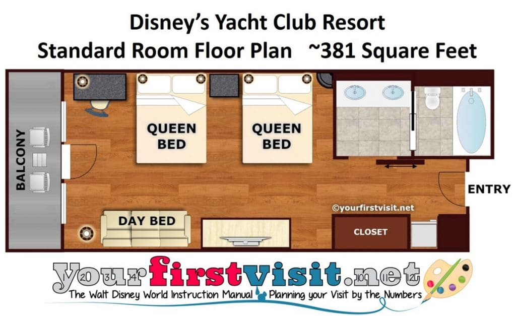 Photo Tour Of A Refurbed Room At Disney's Yacht Club