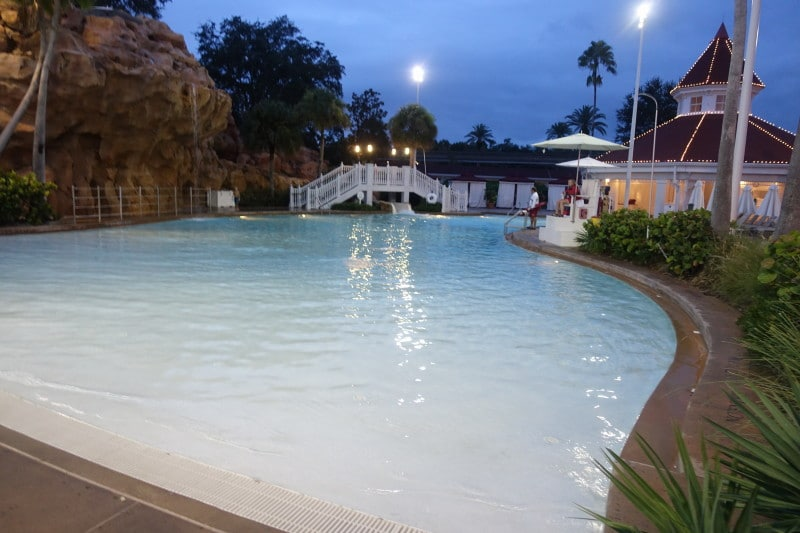The Beach Pool In Evening