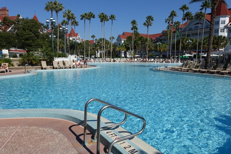 The Prinl Pool At Grand Floridian Courtyard Is Among Accomodations Buildings