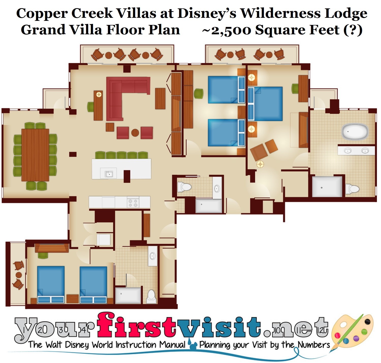 Villas at wilderness lodge floor plan thefloors co Plans for villas